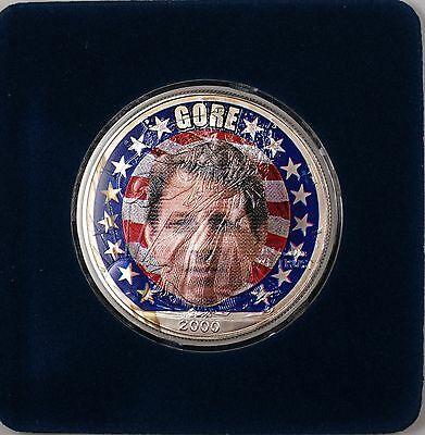 2000 American  Eagle (ASE) Al Gore Election UNC Colorized  1 Oz