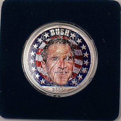 2000 American  Eagle (ASE) George Bush Election UNC Colorized  1 Oz