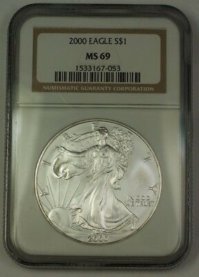 2000 American  Eagle ASE  $1  NGC Nearly Perfect GEM