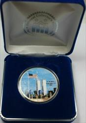 2001 American  Eagle (ASE) 9/11 Double Sided Colorized  1 Oz Blue Box