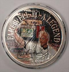 2001 American  Eagle UNC Cal Ripken Jr Camden Yards Colorized  1 Oz