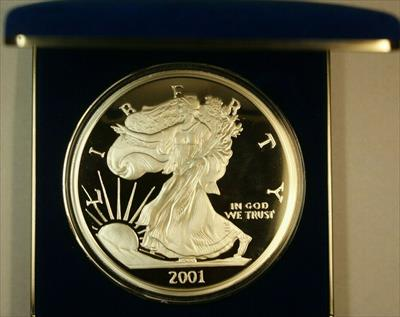 2001 Washington Mint 1/2 LB 8oz Pure  Proof  Eagle  Round