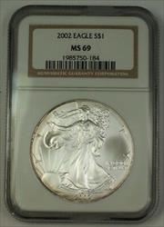 2002 American  Eagle ASE  $1  NGC Nearly Perfect GEM