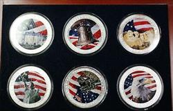 2003 2004 American  Eagle Symbols of Liberty 6  1Ozt BU Colorized Set
