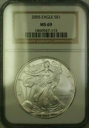 2005 American  Eagle $1  ASE NGC JAB