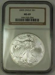 2005 American  Eagle ASE  $1  NGC Nearly Perfect GEM