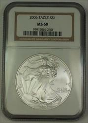 2006 American  Eagle ASE  $1  NGC Nearly Perfect GEM