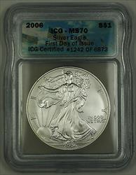2006 American  Eagle First Day of Issue  ICG Perfect