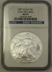 2007 US American  Eagle  ASE $1 NGC Early Releases 1 OZT .999