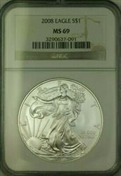 2008 American  Eagle $1  ASE NGC JAB