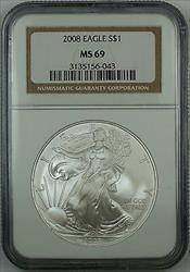 2008 American  Eagle 1oz  NGC