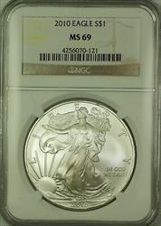 2010 American  Eagle ASE $1  NGC GEM BU