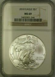 2010 American  Eagle ASE $1  NGC JAB