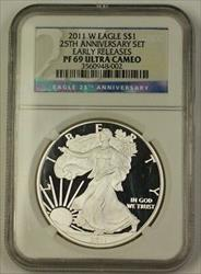 2011 American  Eagle ASE 25th Ann Early Releases NGC Ultra Cameo