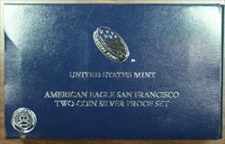 2012 S American  Eagle 2   Proof Set (PF & Rev PF) Box & COA