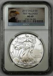 2013 $1 American  Eagle  First Releases NGC