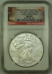 2014 (S) American  Eagle $1  ASE NGC NEAR PERFECT GEM