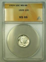 1929  Mercury Dime 10c ANACS (WW) (A)