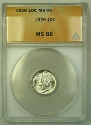1929  Mercury Dime 10c ANACS (WW) (C)