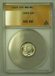 1929  Mercury Dime 10c ANACS (WW) (D)