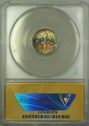 1946 S  Roosevelt Dime 10c ANACS Double Die Obv FSB Beautiful Toning