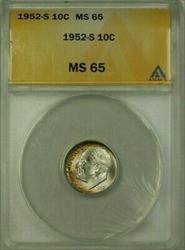1952 S US  Roosevelt Dime 10c ANACS (16)