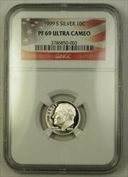 1999 S US  Roosevelt Dime 10c  NGC Ultra Cameo
