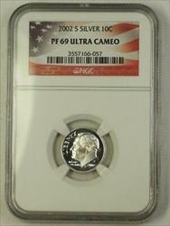 2002 S US  Roosevelt Dime 10c  NGC Ultra Cameo