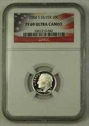 2004 S US  Roosevelt Dime 10c  NGC Ultra Cameo