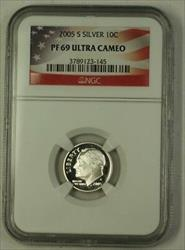 2005 S US  Roosevelt Dime 10c  NGC Ultra Cameo