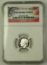 2006 S US  Roosevelt Dime 10c  NGC Ultra Cameo