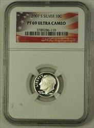 2007 S US  Roosevelt Dime 10c  NGC Ultra Cameo