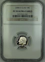 2008 S Proof Roosevelt Dime 10c NGC Ultra Cameo *PERFECT GEM COIN*