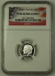 2008 S US  Roosevelt Dime 10c  NGC Ultra Cameo
