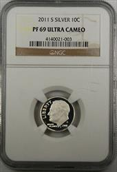 2011 S Proof  Roosevelt Dime Ultra Cameo NGC
