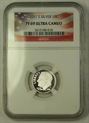 2011 S US  Roosevelt Dime 10c  NGC Ultra Cameo