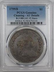 1799/8 15 Stars Draped Bust  $1  B 3 BB 141 PCGS Genuine AU Details