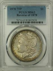 1878 7 Tail Feathers Reverse 1878 Morgan    PCGS Toned(14)