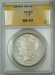 1878 7TF Morgan    $1 ANACS (Proof Like PL)