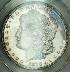 1878 7TF Morgan   ANACS  Nice Edge Toning