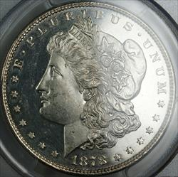 1878 8TF Morgan   PCGS Genuine (Looks DMPL) UNC Details  Cleaned