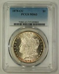 1878 CC Morgan   $1  PCGS Carson City (Better) (18)
