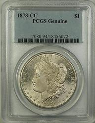 1878 CC Morgan   $1  PCGS Genuine (Choice BU) TW