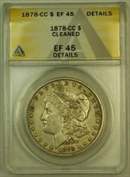 1878 CC Morgan   S$1 ANACS (XF) Details Cleaned