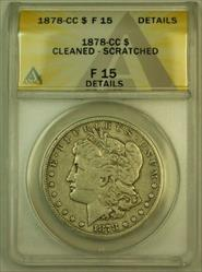 1878 CC Morgan   S$1 ANACS Details Cleaned Scratched