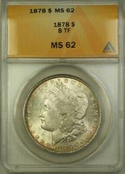 1878 Morgan   $1  ANACS Eight Tail Feathers 8 TF [BCX]