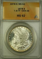 1878 Morgan   $1 ANACS 7/8 TF VAM 38 (Better ) [BCX]