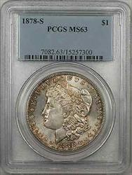 1878 S Morgan    $1 PCGS Light Toning (8G)