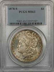 1878 S Morgan    $1 PCGS Light Toning (8I)