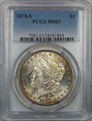 1878 S Morgan    $1 PCGS Light Toning (8J)